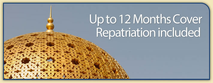 Up to 12 Months Cover - Repatriation included